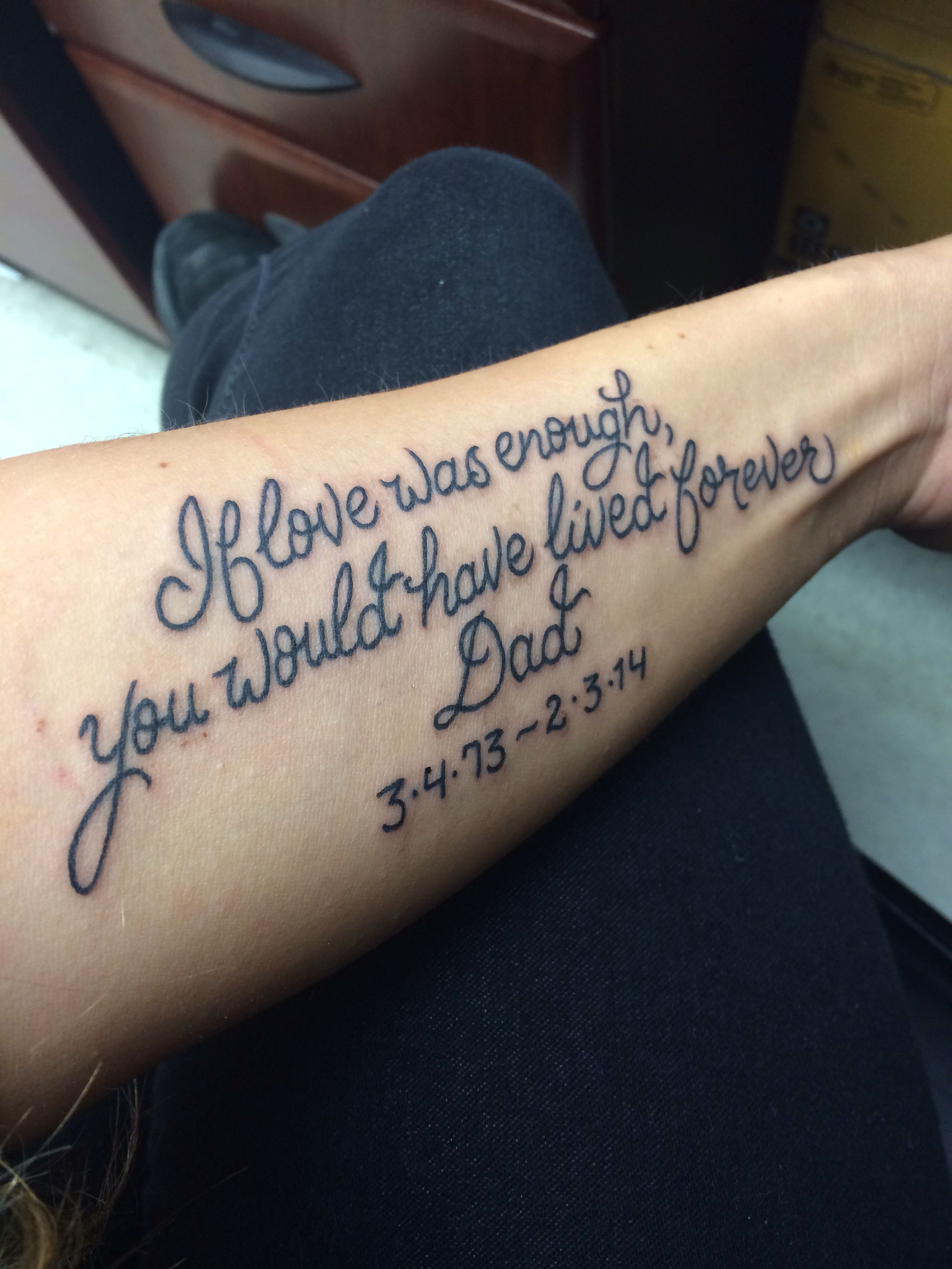 For my dad love you tattoos pinterest tattoo