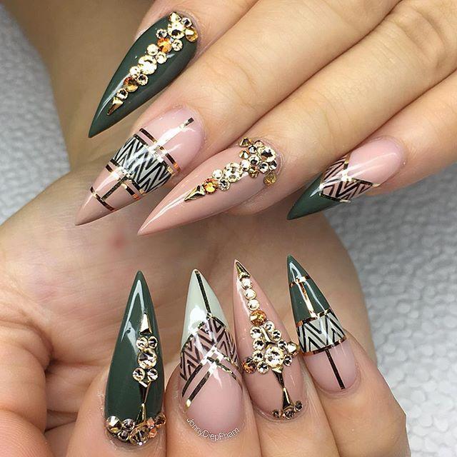 Khaki Nail Art Claws Nails Nail Art Nail Designs