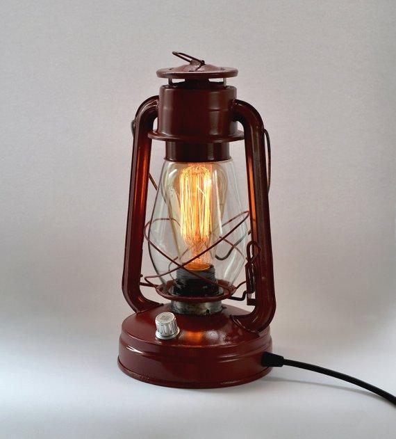Retro Led Lamp Table Lamp Vintage Bedside Lamp E26 Filament Bulb Vintage Storm Lamp Hurricane Lanter Lamp Retro Lamp Antique Light Bulbs