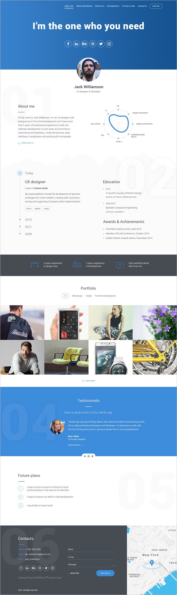 Portfolio For Resume Awesome Cv & Portfolio  Resume Psd Template  Pinterest  Psd Templates .