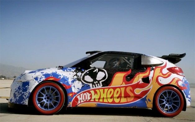 Hyundai Veloster Gets The Hot Wheels Stunt Treatment Hot Wheels Stunts Hyundai Veloster Hot Wheels