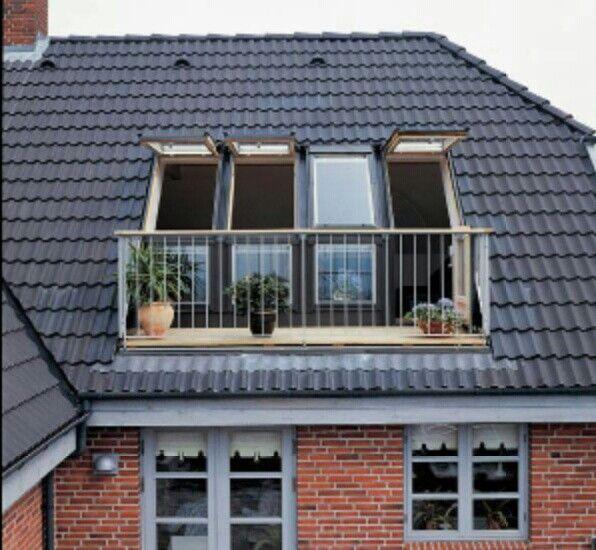 Velux balkon wonen dachgauben dachwohnung en dachfenster - Velux dachfenster balkon ...