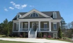 Estate Homes Portfolio | L. Mitchell Ginn & Associates - don't like the large triangle porch. I prefer a smaller triangle