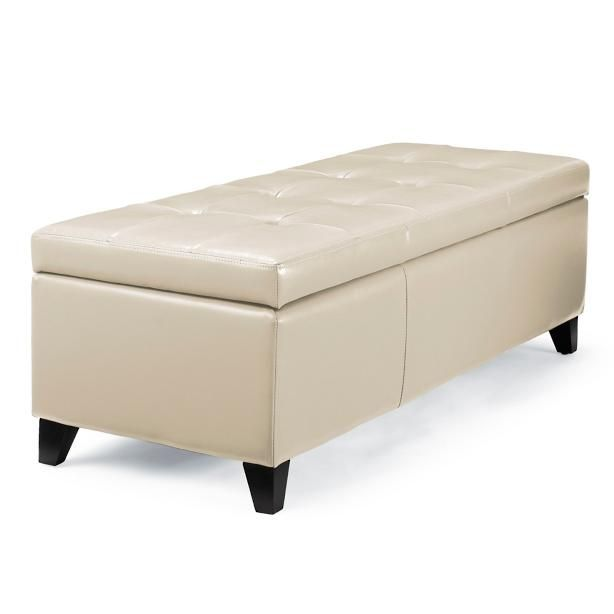 Custom Dyed Bonded Leather And A Slim Design Make The Dylan Storage Ottoman Useful As Extra Seating An Impromptu Coffee Storage Storage Ottoman Storage Bench