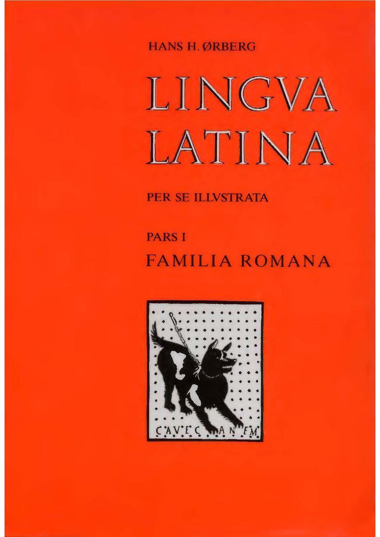 Lingua Latina Pars I Familia Romana Lingua Latina Latina Latin Language Learning