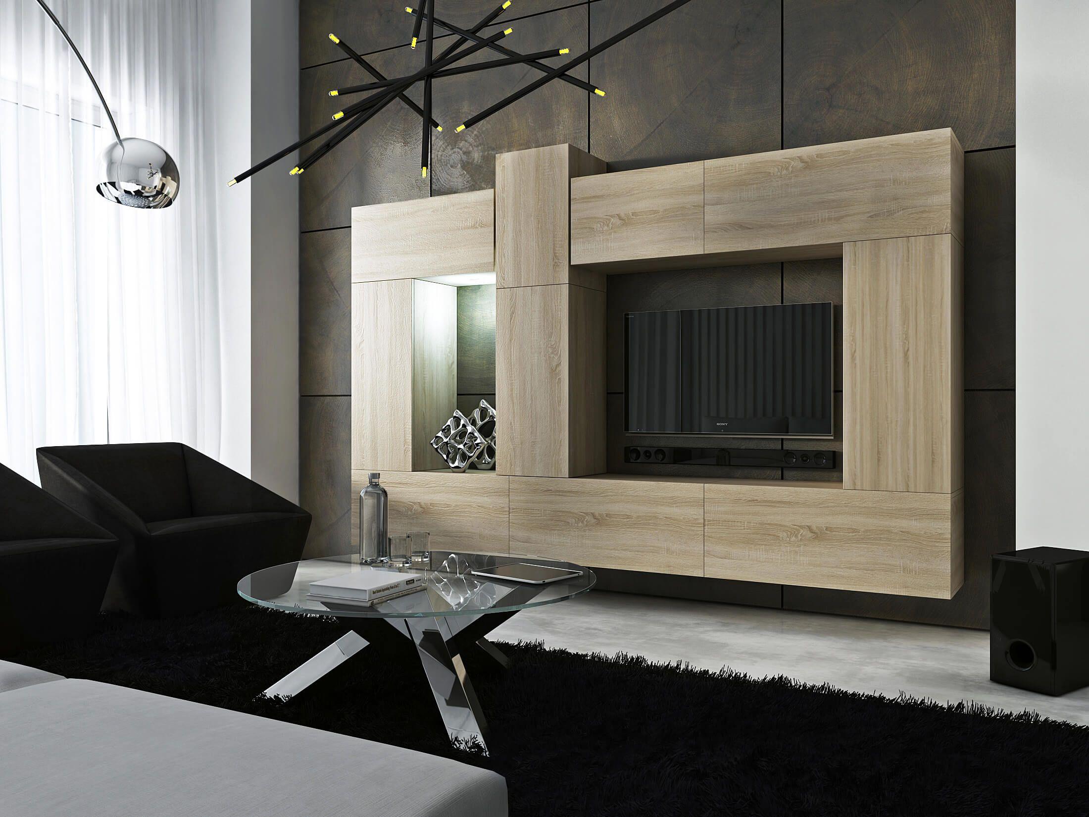Mueble de sal³n SIZE sonoma – Prime Home Muebles Hogar icina
