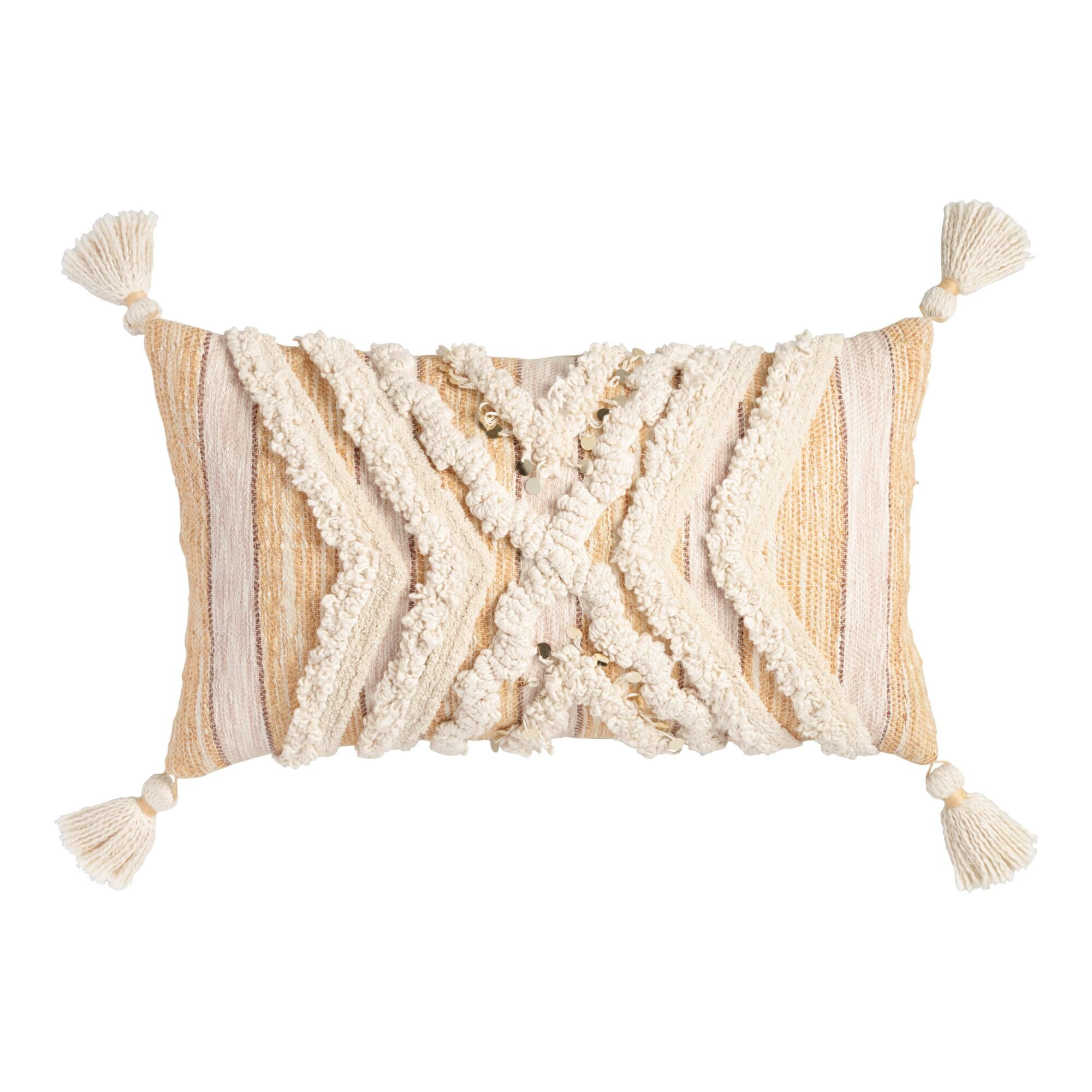 Moroccan Style Blanket Lumbar Pillow