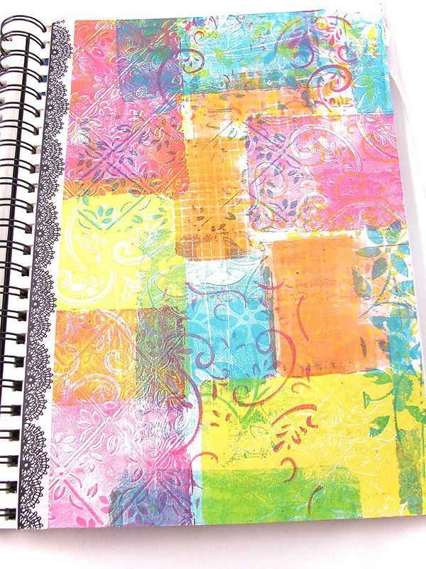 10 Best Gelli Printing Videos! Stamping with Gelli Plates  Gelli Arts, the makers of the Gelli Plate, produce great videos. Two of my favorites demonstrate how to stamp with their plates. Gelli Stamping Layered Circles uses 3 sizes of the round gelli plates together with stencils and texture tools to create a colorful, layered journal page. Stamping with Gelli uses the smaller 5″ x 7″ and 3″ x 5″ plates as stamps to make some fun patchwork journal pages.