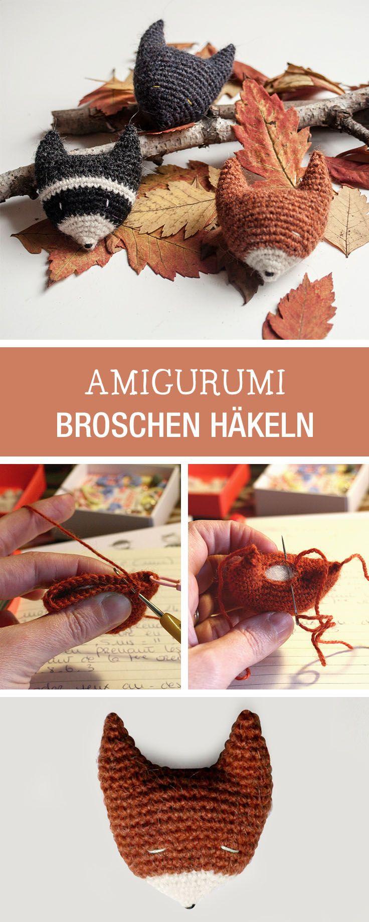 Diy Anleitung Deine Herbstdeko Selbstgemacht Amigurimi Broschen