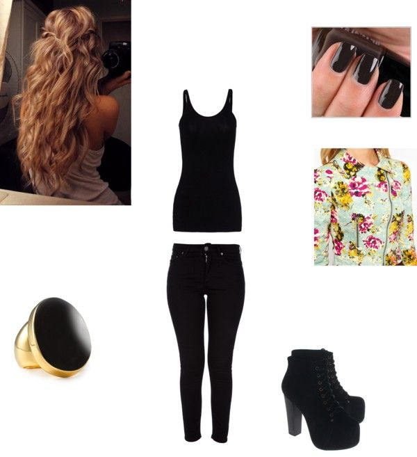 """Black"" by mindiblue2 ❤ liked on Polyvore"