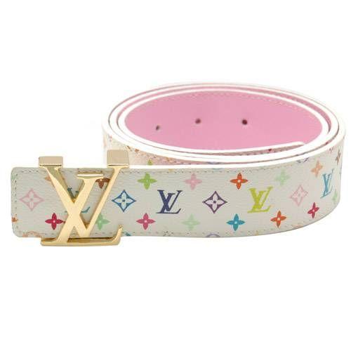 9085b03d5b Louis Vuitton Multicolor Monogram Gold Lv Iniltales Belt LB4405-564 ...