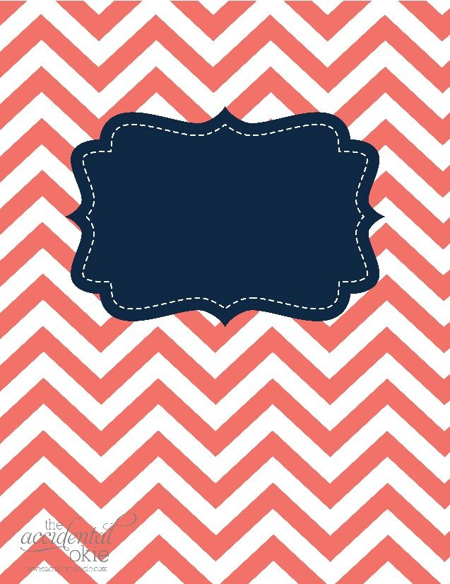 Notebook / binder cover back to school Binder cover templates