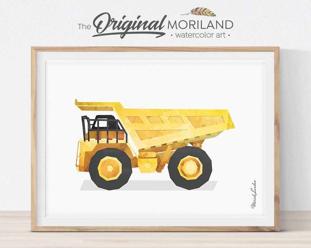 Dump Truck Wall Decor, Mining Truck Print, Construction Decor ...