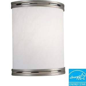 Progress Lighting 1-Light Brushed Nickel Fluorescent Wall Sconce-P7083-09EBWB at The Home Depot