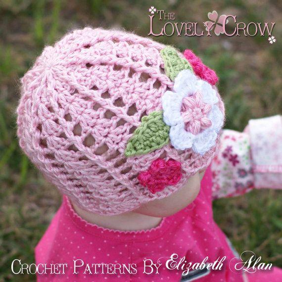 Hat Crochet Pattern for Garden Fairy Hat - sizes from newborn to 4T ...
