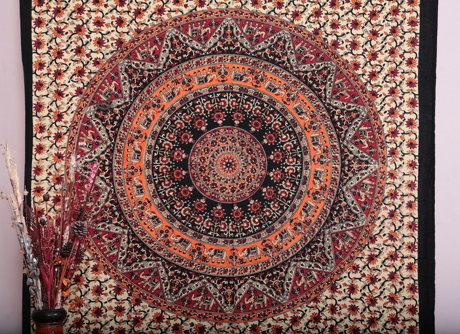 Amazoncom Mandala Tapestry Tapestries Indian Tapestry