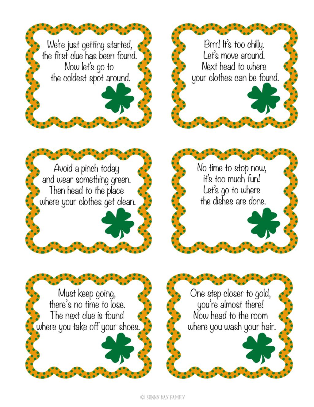 St Patrick S Day Scavenger Hunt For Kids