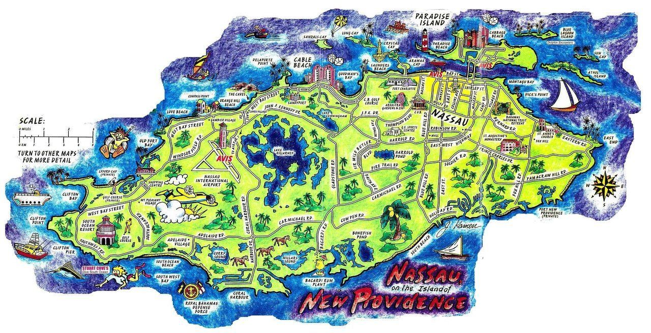 Nassau Bahamas Map Nassau Bahamas map | Concerts And Places I've seen in 2019