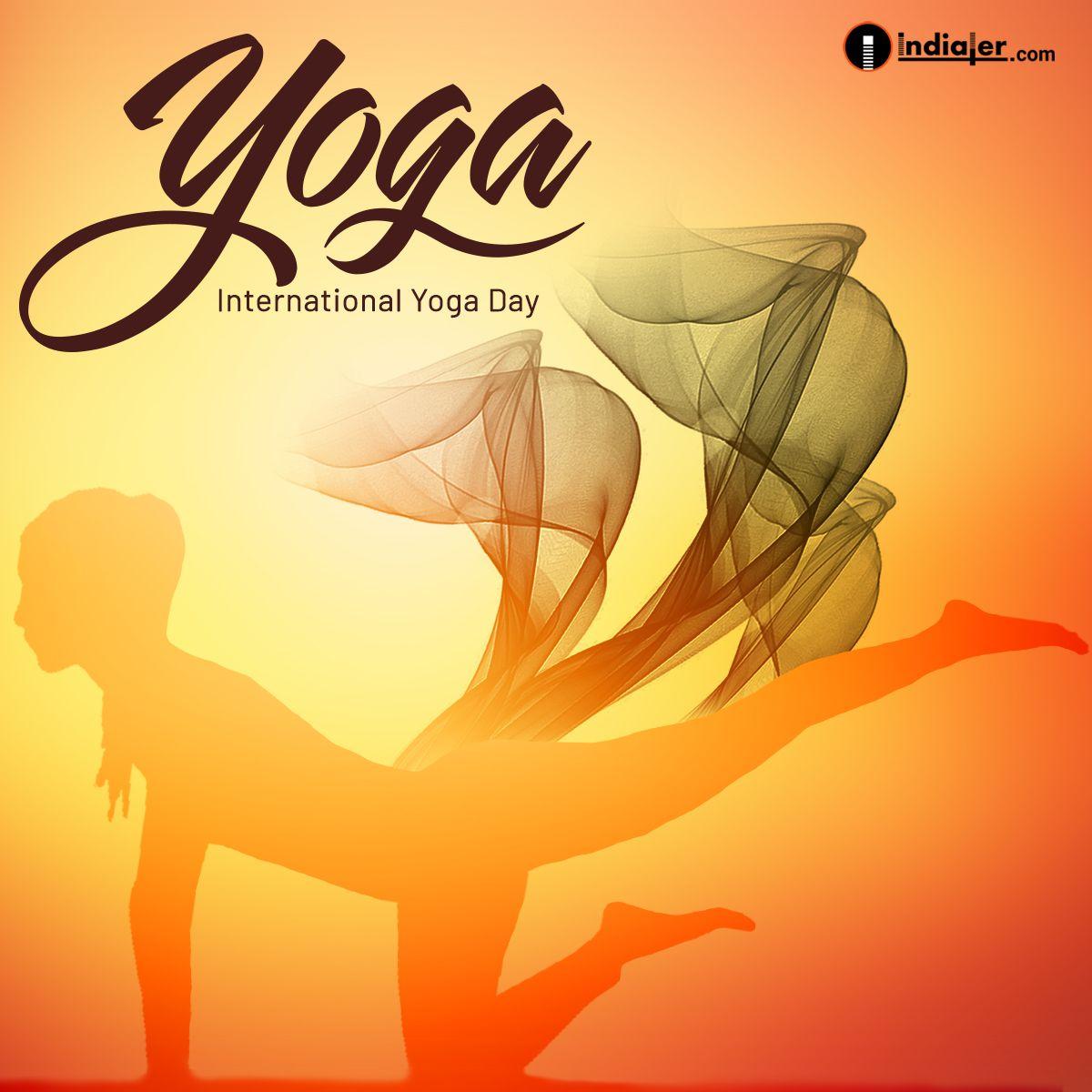 International Yoga Day Free Creative Design Template Psd Yoga Day International Yoga Day Design Template