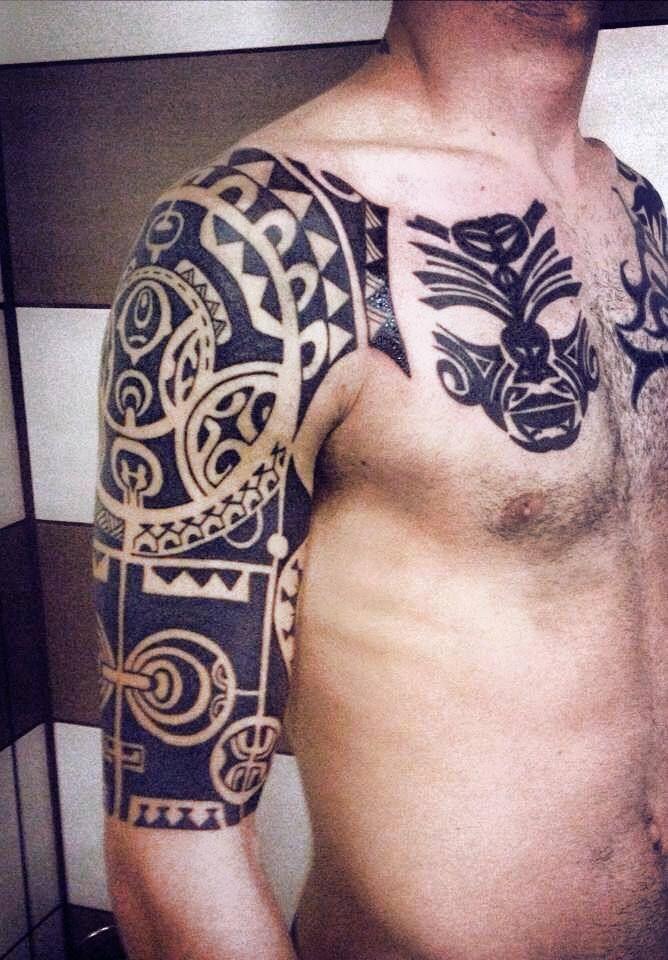 marquesan polynesian tattoo by greek tattoo artist anna karagkouni men tattoo ideas. Black Bedroom Furniture Sets. Home Design Ideas
