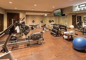 basement renovation  traditional  home gym  milwaukee