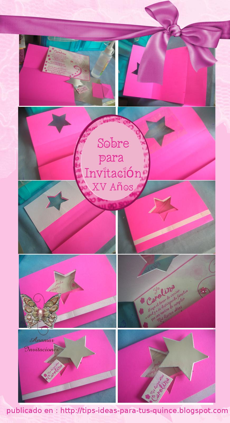 Sobres Para 15 Años Invitaciones Invitacion Xv Años Y