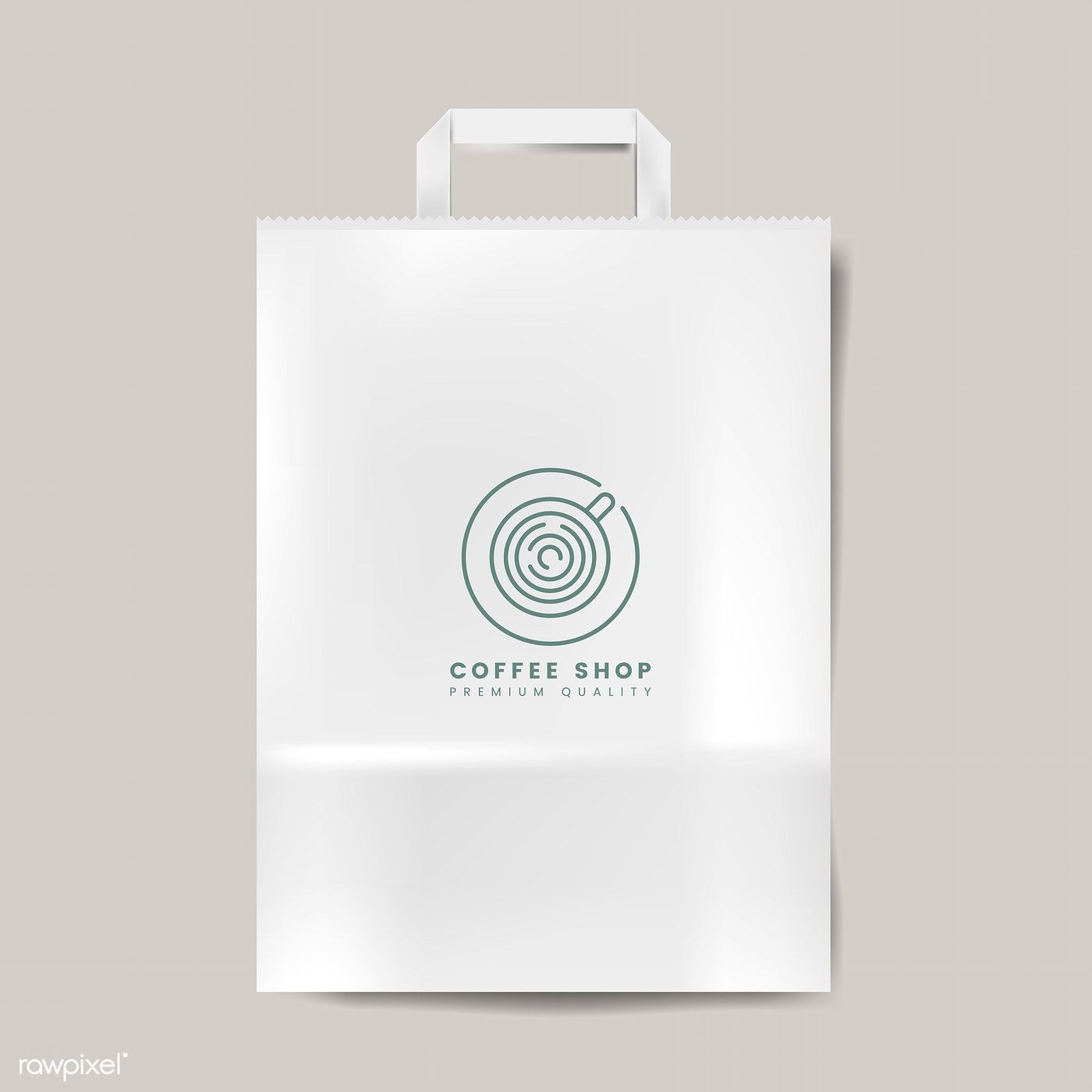 Download Paper Bag Mockup Isolated Vector Free Image By Rawpixel Com Saco De Papel Vetores Sacos