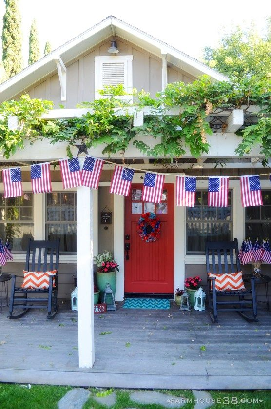 American Flag Bunting from Farmhouse38