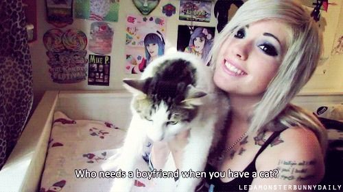 I won't be forever alone I have cats