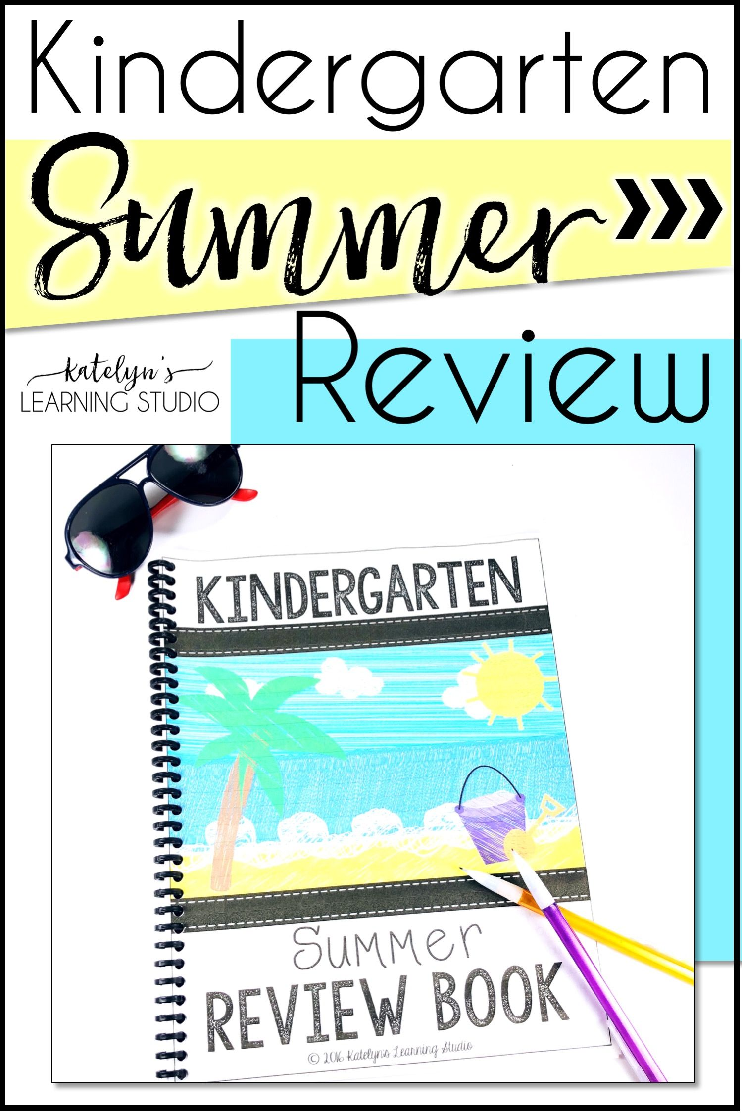 Kindergarten Summer Packet Review | TPT Products-Katelyn\'s Learning ...