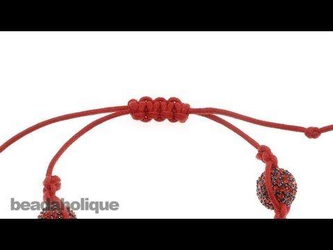 How to Make a Shambhala Bracelet, Part III: Sliding Knot Clasp - YouTube