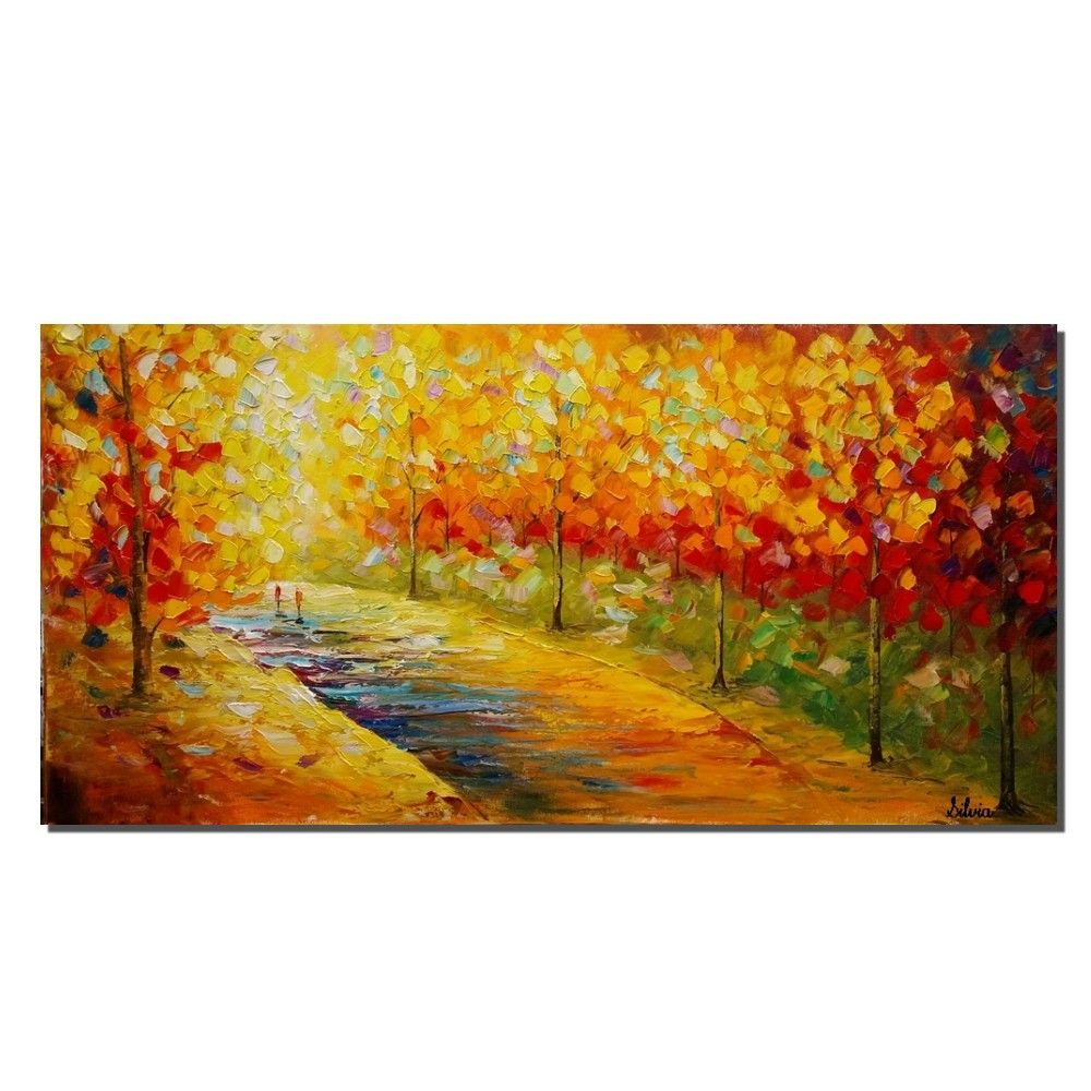 Autumn Tree, Oil Painting, Large Landscape Painting, Canvas Painting ...