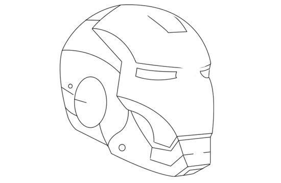 Iron Man Mask Iron Man Mask Iron Man Helmet Drawing