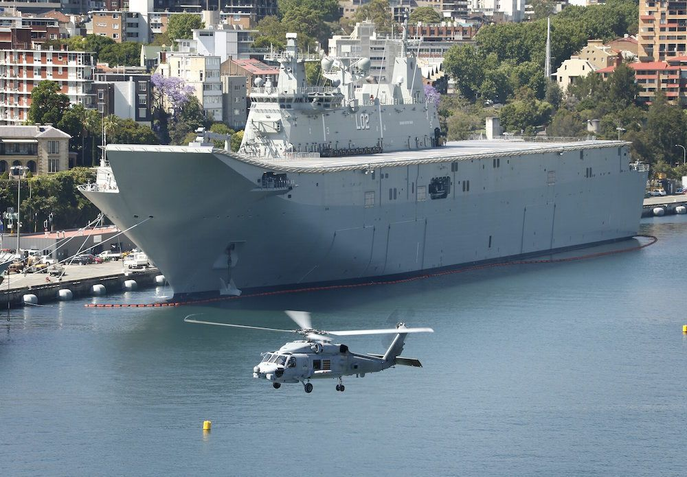 Helicopter Carrier Hibious Ault Ship