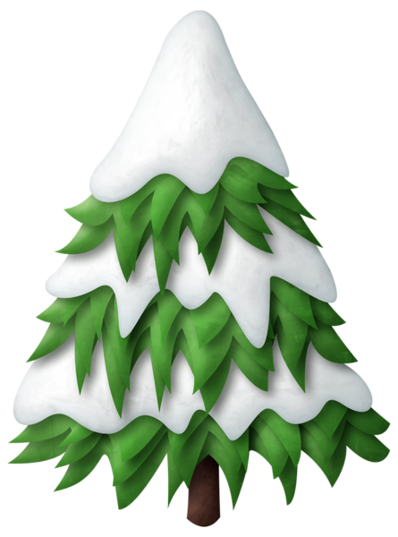 Green Snowy Christmas Tree Png Clipart Christmas Tree Clipart Snowy Christmas Tree Winter Scrapbooking
