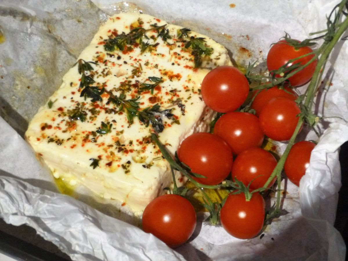 Chilli and Herb Baked Feta Cheese Recipe Feta cheese