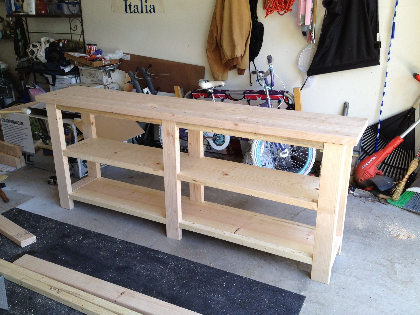 Build Sofa Table Plans Ana White DIY simple plywood dresser plans