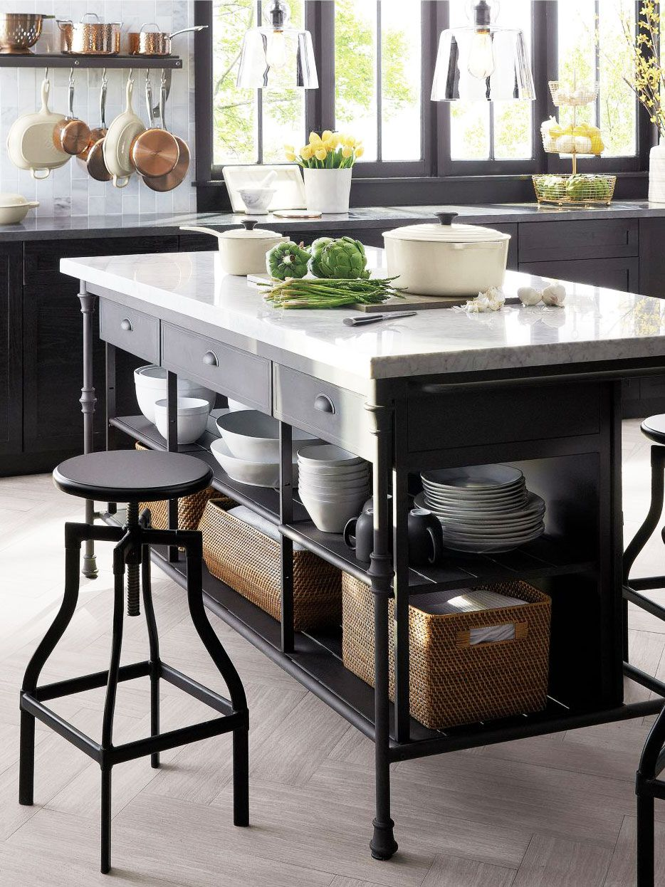 freestanding kitchen island blue cabinets stylish islands carts cook kitchens large marble with storage on thou swell thouswellblog