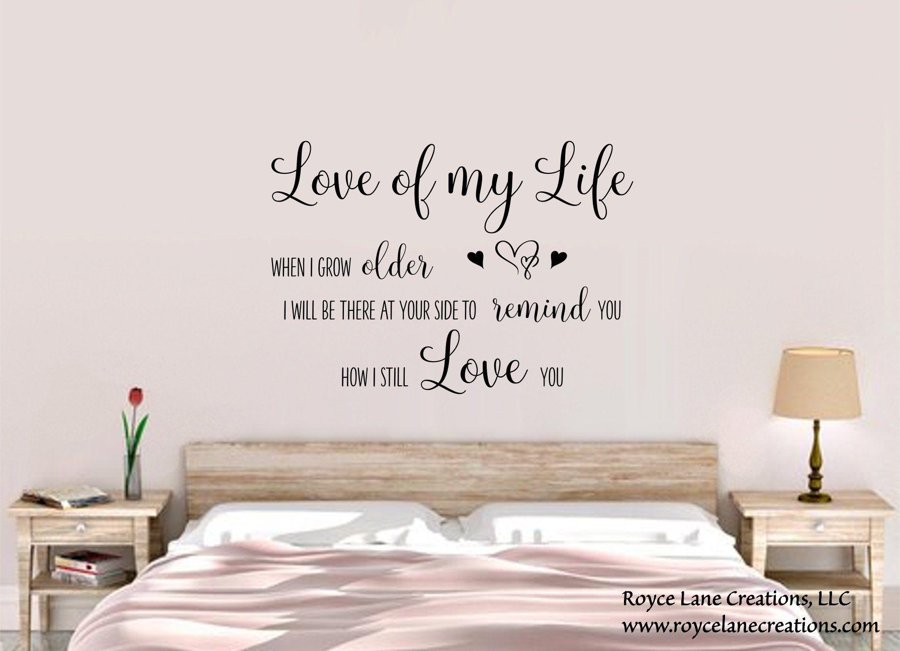 Love Of My Life Lyrics Bedroom Wall Decal Song Lyrics Wall Decal