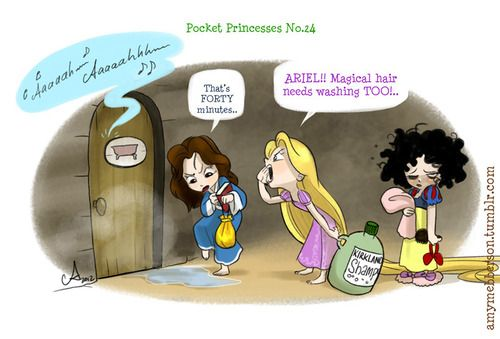 Pocket Princesses 24  Also: I've noticed people taking PPs and reposting them on their own feeds, either as lone cartoons or as big photosets. One such photoset has clocked up over 37k notes with NO linking credit back to my tumblr feed here. PLEASE, reblog rather than repost. Don't repost Tumblr art to boost your own signal, that's not cool.  And if you ever DO post something from somewhere else, please make sure you include a link to the creator, so people can find their work.