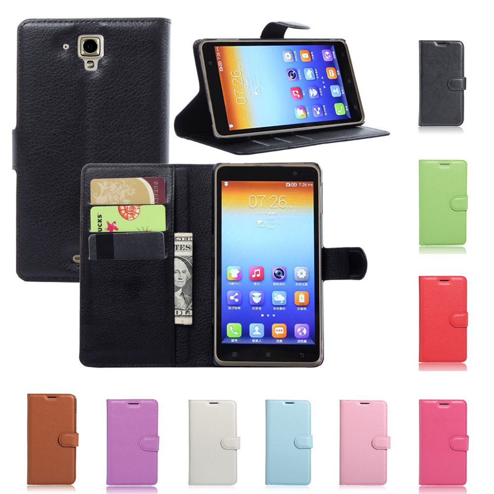 new product fc876 b12b6 Litchi Texture New Original for Lenovo S898t Leather Case Flip Cover ...