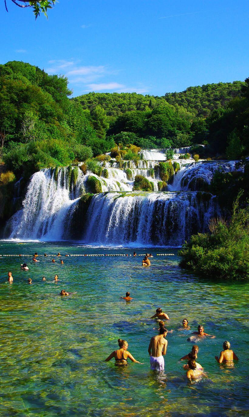 Skradinski Buk waterfall in Krka National park, Croatia ...