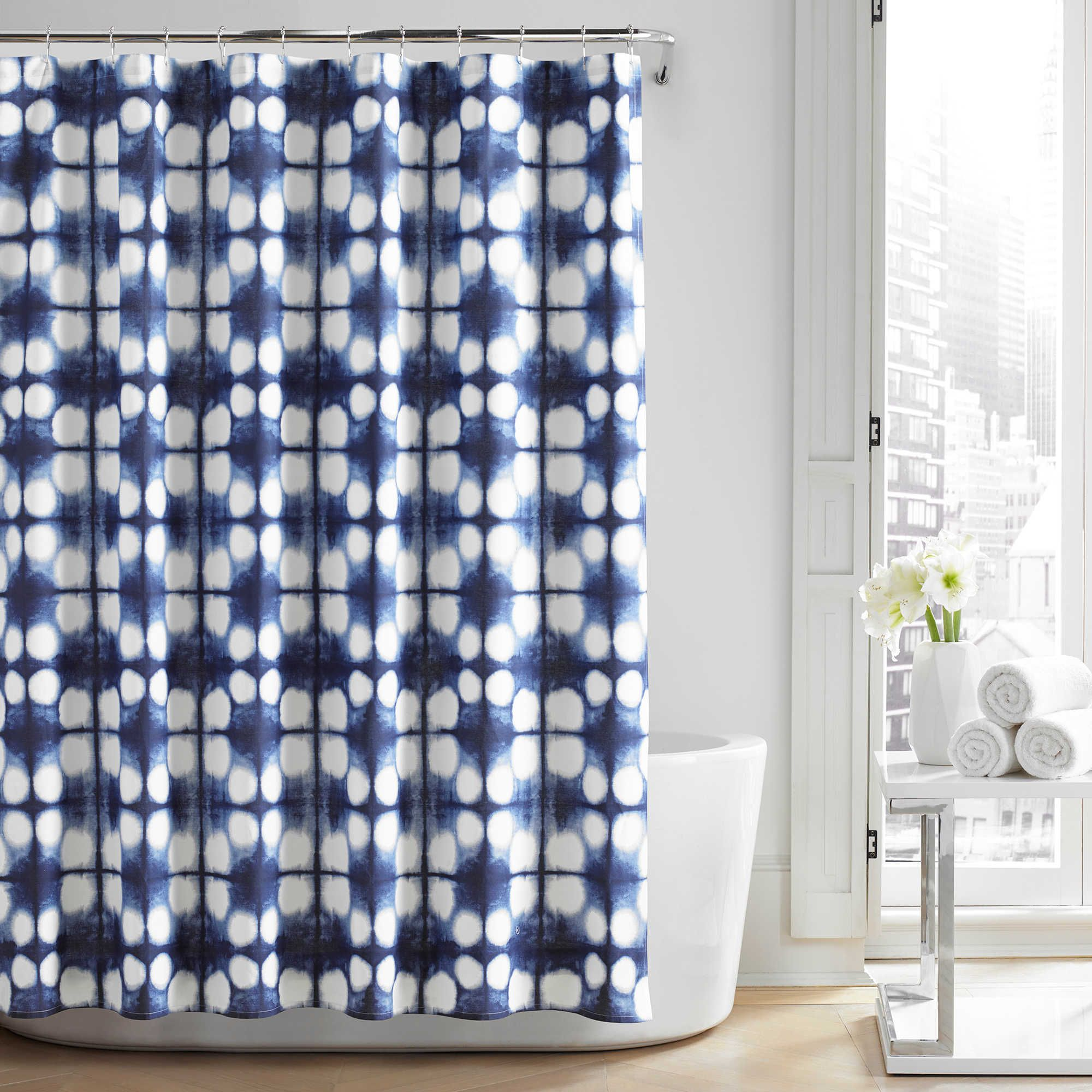 City LoftTM Nona Shower Curtain In Navy