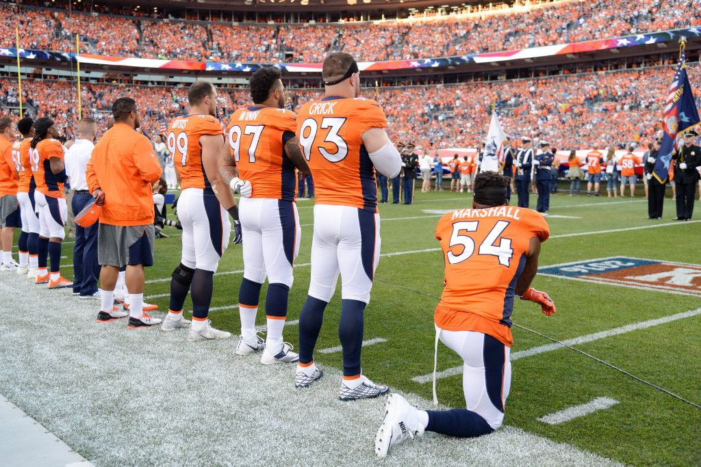 best service e8fab ed1d3 Broncos' Brandon Marshall loses endorsement deal after ...