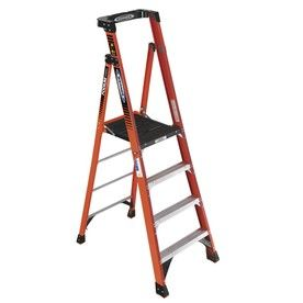 Werner 4 Ft Fiberglass 300 Lb Type Ia Platform Ladder Lowes 129 00 Platform Ladder Ladder Step Ladders