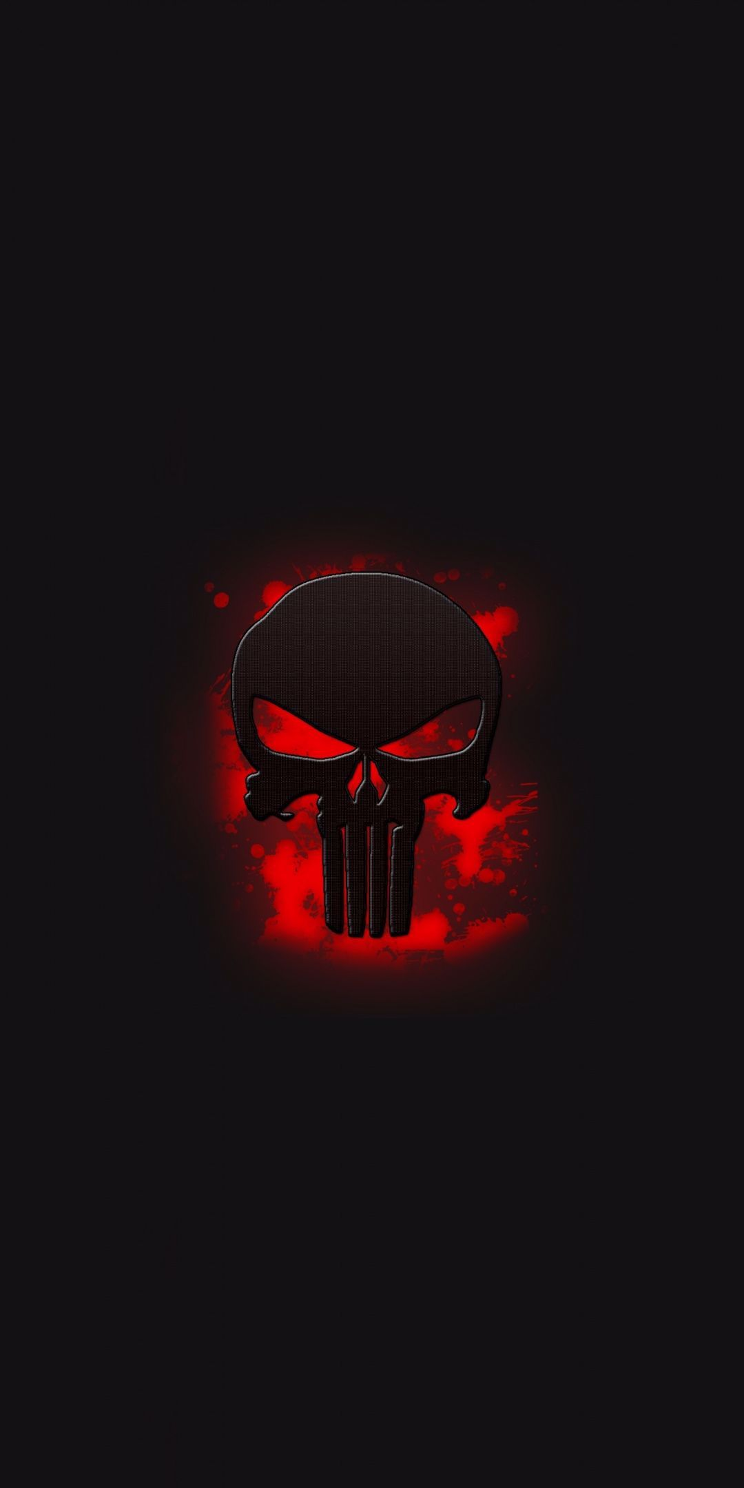 The Punisher, skull, logo, art, 1080x2160 wallpaper in