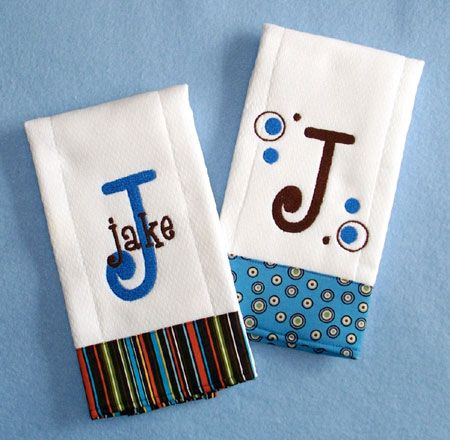 Personalized Baby Burp Cloths Baby Pinterest Embroidery