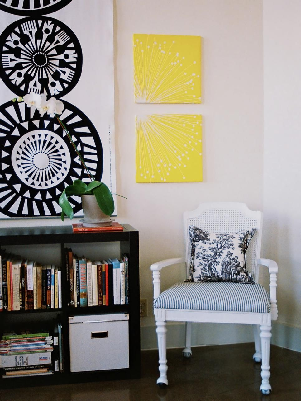 From colorful wall treatments created on the