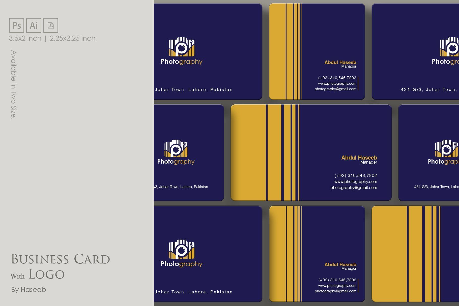 Business Card With Logo Business Card Template Business Card Logo Business Cards