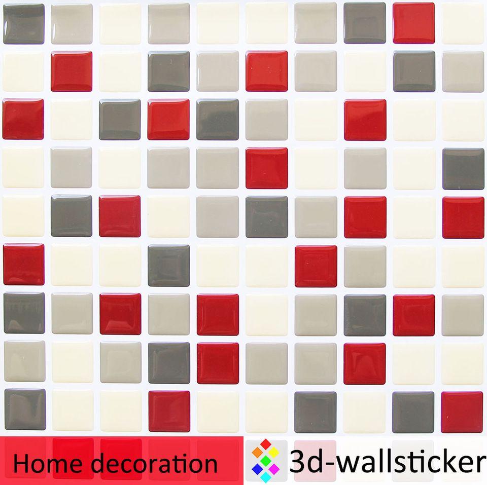 Self adhesive backsplash faux ceramic mosaic wall tiles for rv